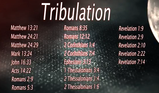 References to the term Tribulation in the Holy Bible